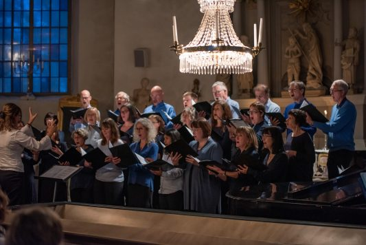 Canorus höll konsert i Järlåsa kyrka den 9 februari 2019. Foto: Peter Skoglund